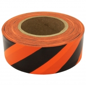 Presco SOGBK Striped Roll Flagging Tape - Orange Glo/Black