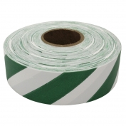Presco SWG Striped Roll Flagging Tape - White/Green
