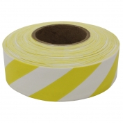 Presco SWY Striped Roll Flagging Tape - White/Yellow