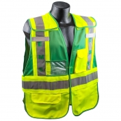 Full Source PSV-EMS ANSI 207 Public Safety Vest - Lime & Green