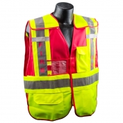 Full Source PSV-FIRE Type P Class 2 Public Safety Vest - Lime & Red