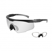 Wiley X PT-1 Safety Glasses w/ RX Insert - Matte Black Frame - Clear Lens