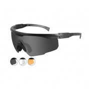Wiley X PT-1 Safety Glasses - Matte Black Frame - Grey, Clear & Rust Lens