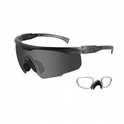 Wiley X PT-1 Sunglasses w/ RX Insert - Matte Black Frame - Grey Lens
