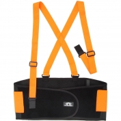 Pyramex BBS400 Hi-Vis Back Support – Standard Weight - Orange/Black