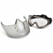 Pyramex Capstone Shield Goggles - Removable Face Shield - Clear Anti-Fog Lens
