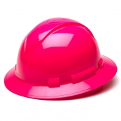 Pyramex HP54170 Ridgeline Full Brim Hard Hat - 4-Point Ratchet Suspension - Hi-Viz Pink