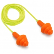 Pyramex RP3001 Reusable Corded TPR Rubber Ear Plugs - 24 NRR