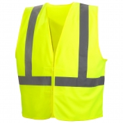 Pyramex RVHL2910 Class 2 Solid Safety Vest - Yellow/Lime