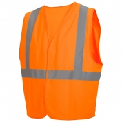 Pyramex RVHL2920 Class 2 Solid Safety Vest - Orange