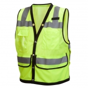 Pyramex RVMS2810 Type R Class 2 Heavy Duty Surveyor Safety Vest - Yellow/Lime