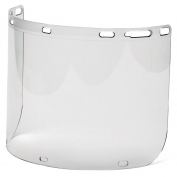 Pyramex S1210CC Cylinder Polycarbonate Face Shield with Holes - Clear