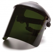 Pyramex S1250 Cylinder Polycarbonate Face Shield - IR5 Green
