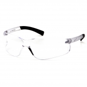 Pyramex Ztek Readers Safety Glasses - Rubber Temple Tips - Clear Bifocal Lens