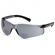 Pyramex S2520R Ztek Readers Safety Glasses - Rubber Temple Tips - Gray Bifocal Lens