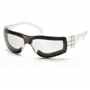 Pyramex Intruder Safety Glasses - Clear Temples - Clear Foam-Lined Anti-Fog Lens