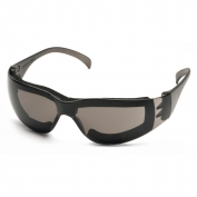 Pyramex Intruder Safety Glasses - Gray Temples - Gray Foam Lined Anti-Fog Lens