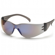 Pyramex Intruder Safety Glasses - Blue Temples - Blue Mirror Lens