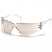 Pyramex S4180S Intruder Safety Glasses - Clear Temples - Indoor/Outdoor Mirror Lens