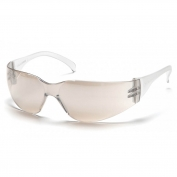 Pyramex Intruder Safety Glasses - Clear Temples - Indoor/Outdoor Anti-Fog Mirror Lens