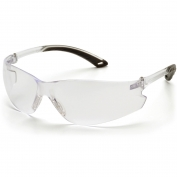 Pyramex Itek Safety Glasses - Clear Temples - Clear Anti-Fog Lens