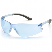 Pyramex Itek Safety Glasses - Blue Temples - Blue Lens