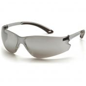 Pyramex Itek Safety Glasses - Gray Temples - Silver Mirror Lens