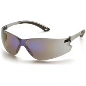 Pyramex Itek Safety Glasses - Gray Temples - Blue Mirror Lens