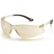 Pyramex Itek Safety Glasses - Clear Temples - Indoor/Outdoor Mirror Lens