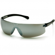 Pyramex Provoq Safety Glasses - Black Temples - Silver Mirror Lens