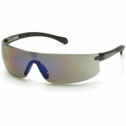 Pyramex Provoq Safety Glasses - Black Temples - Blue Mirror Lens