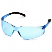 Pyramex S9160S Atoka Safety Glasses - Black Temples - Infinity Blue Lens