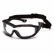 Pyramex SB10310ST V3T Safety Glasses - Black Temples and Strap - Clear Anti-Fog Lens