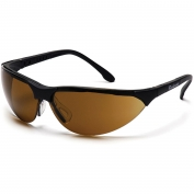 Pyramex Rendezvous Safety Glasses - Black Frame - Coffee Lens