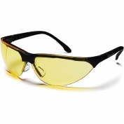 Pyramex Rendezvous Safety Glasses - Black Frame - Amber Lens