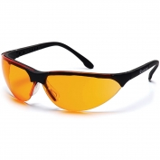 Pyramex Rendezvous Safety Glasses - Black Frame - Orange Lens