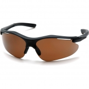Pyramex Fortress Safety Glasses - Black Frame - Brown Lens