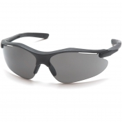 Pyramex Fortress Safety Glasses - Black Frame - Gray Lens