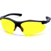 Pyramex Fortress Safety Glasses - Black Frame - Amber Lens