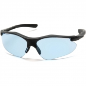 Pyramex Fortress Safety Glasses - Black Frame - Blue Lens