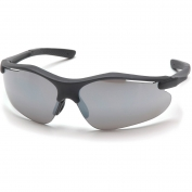 Pyramex Fortress Safety Glasses - Black Frame - Silver Mirror Lens