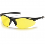 Pyramex Avante Safety Glasses - Black Frame - Amber Lens
