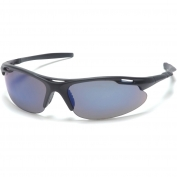 Pyramex Avante Safety Glasses - Black Frame - Blue Mirror Lens