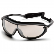 Pyramex XS3 Plus Safety Glasses - Black Foam Lined Frame - Indoor/Outdoor Anti-Fog Mirror Lens