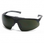 Pyramex Onix Plus Safety Glasses - Black Frame - Clear Anti-Fog Lens - Flip Up 5.0 IR Filter Lens
