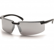Pyramex SB6170S Surveyor Safety Glasses - Black Frame - Silver Mirror Lens