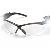 Pyramex SB6310STPLED PMXTREME LED Safety Glasses - Black Frame - Clear Anti-Fog Lens