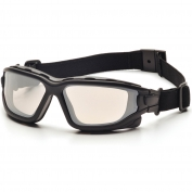Pyramex I-Force Safety Glasses/Goggles - Black Frame - Indoor/Outdoor Anti-Fog Mirror Lens