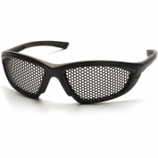 Pyramex Trifecta Safety Glasses - Black Frame - Punched Steel Lens