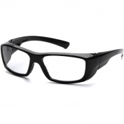 Pyramex Emerge Safety Glasses - Black Frame - Clear Full Reader Lens